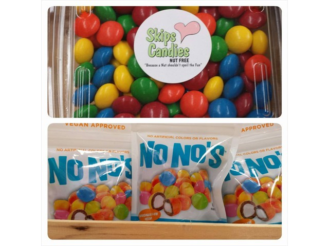 nut free candies - No Nos